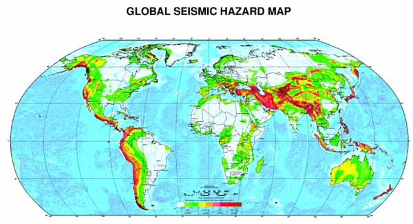 Global Seismic Hazard map.