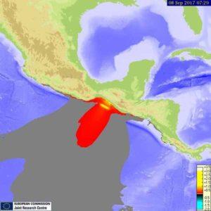 Mexico earthquake tsunami model september 8-2017